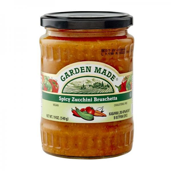 Spicy Zucchini Bruschetta Vegan, 19 oz/ 540 g