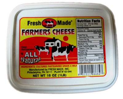 Farmer Cheese, 1 lb / 0.45 kg