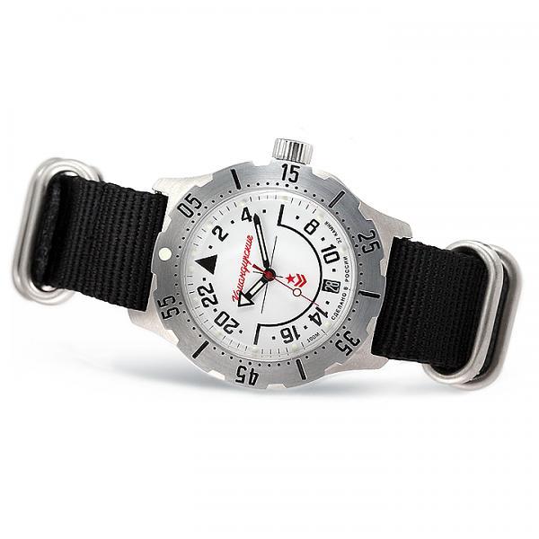 Vostok Komandirskie Russian Mechanical Watch (350607) with Nylon Strap