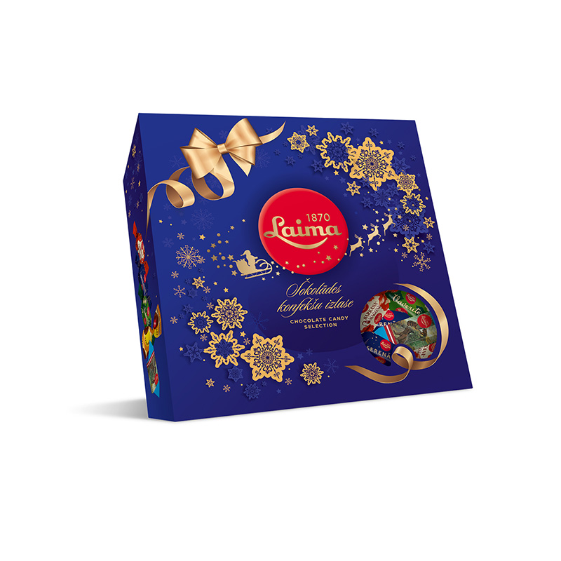 Chocolate Candy Assortment in a Christmas Gift Box, Laima, 31.75 oz / 900 g