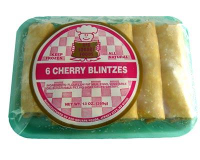 Blini with Cherries