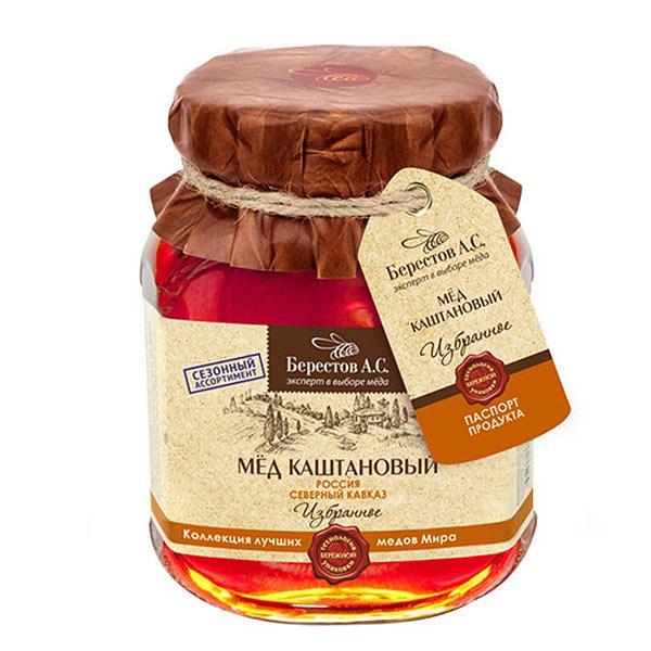 Natural Chestnut Honey, 17.65 oz / 500 g