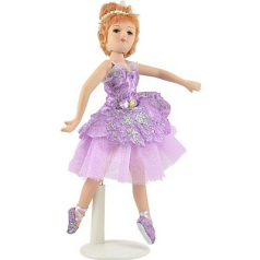 """Porcelain PINK Clothing Ballerina Doll, 8"""", Handmade, Russian Collection (H-8409D)"""