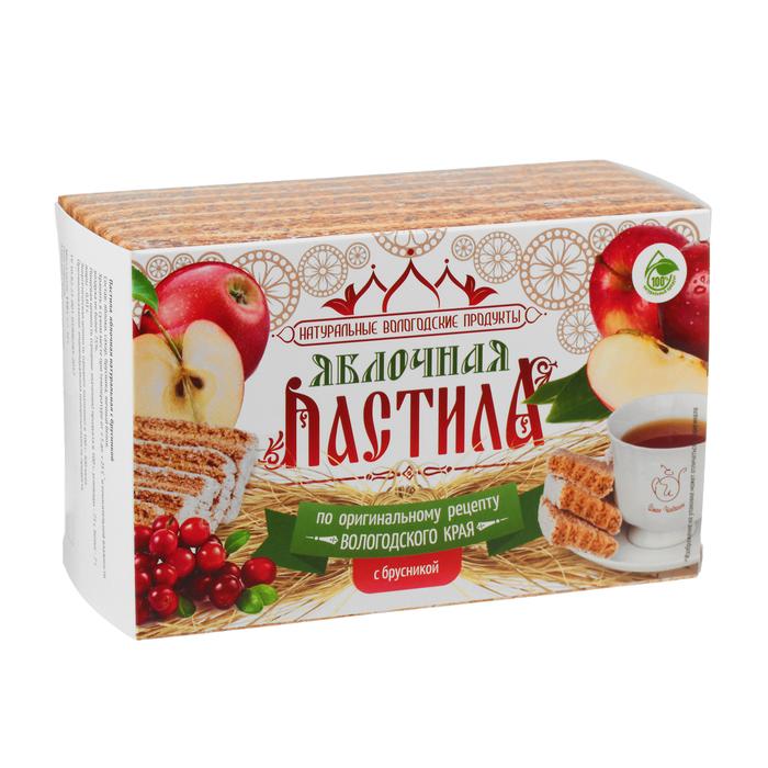Pastila Apple & Lingonberries, Ivan Chaikin, 110 g/ 0.24 lb
