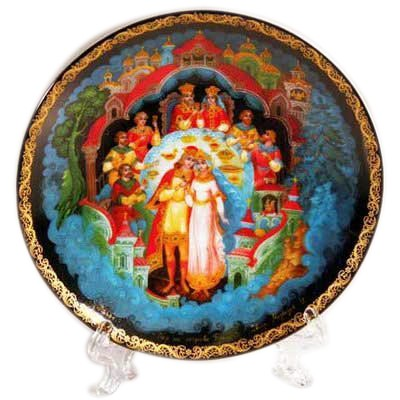 "Plate ""Feast on the Island of Buyan"", 20 cm (20-24)"