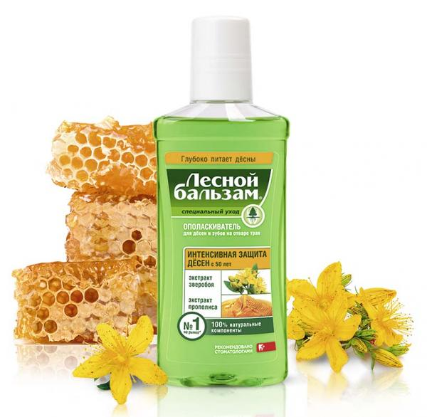 Forest Balm Special Care 50+ Herbal Mouthwash with Propolis and St. John's Wort, 8.45 fl oz / 250 ml