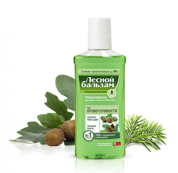 Forest Balm Anti-Bleeding Mouthwash Oak bark and Fir, 8.45 oz / 250 Ml