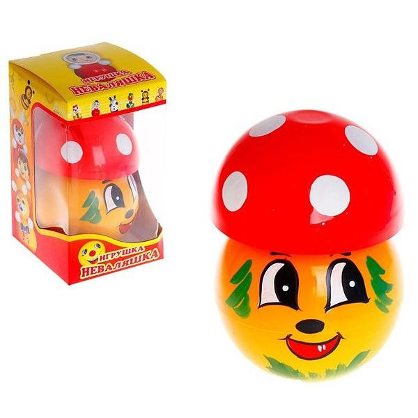 "Roly-Poly Toy, Mushroom 3.5""x3.5""x6.3"""