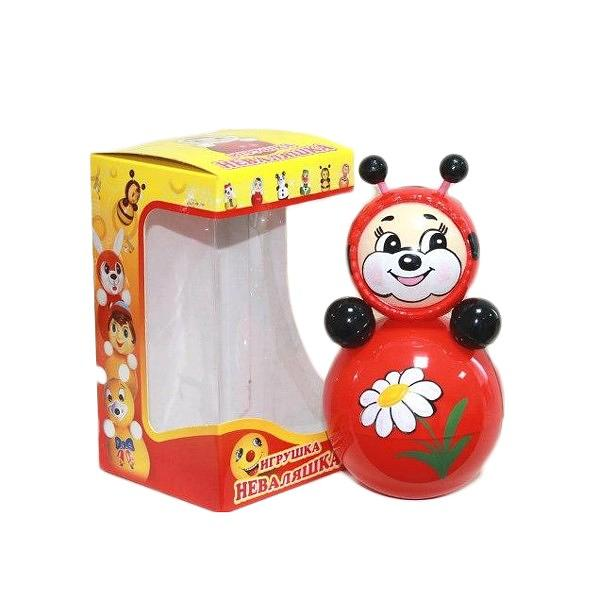 "Roly-Poly Toy, Bee 3.5""x3.5""x6.3"" (020)"