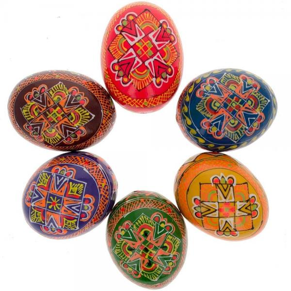 """Wooden Easter Hand Painted Egg, 2.5"""", 1 pc"""