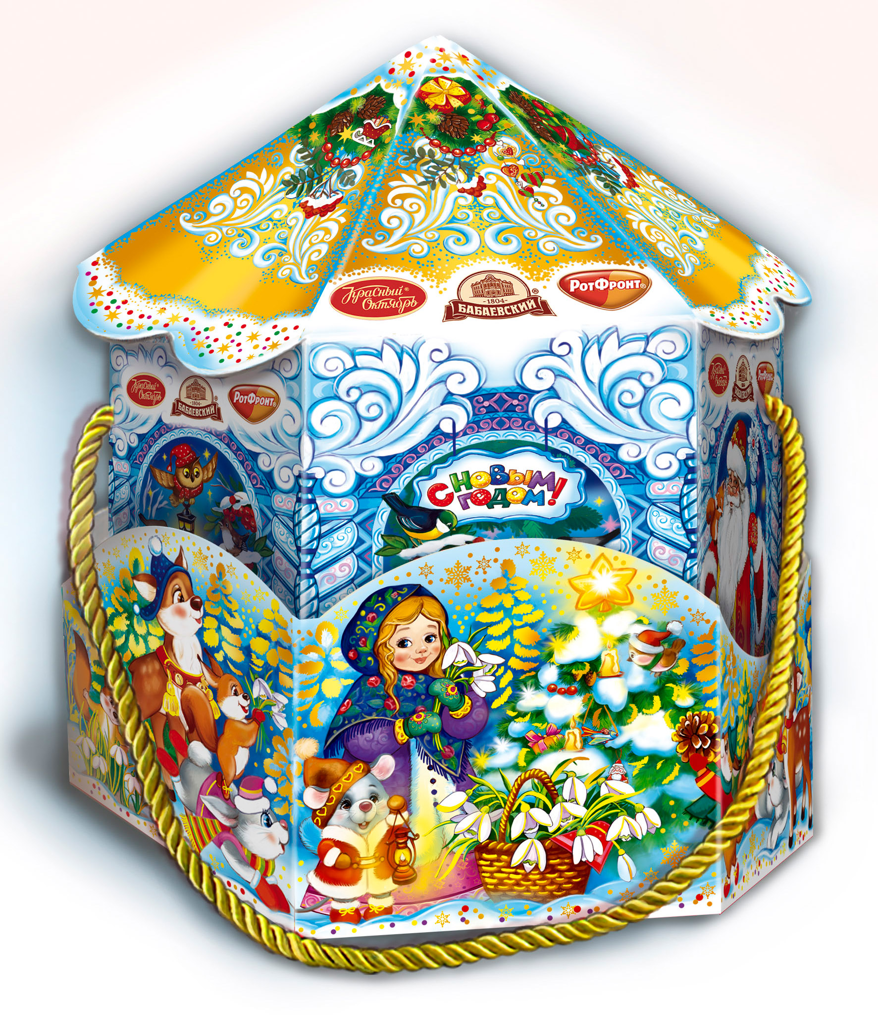 Sweet New Year Gift  «Funny carousel»,  1.8 lb