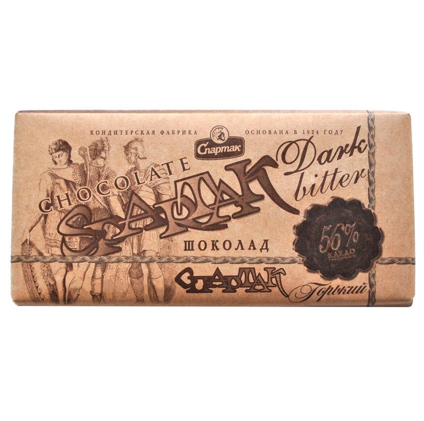 """Chocolate Bar """"Spartak"""" Dark Bitter 56% cocoa 90g"""