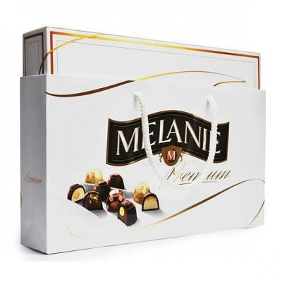 MELANIE Assorted Chocolates with Hazelnut Filling White Gift Box, 16 oz / 455 g