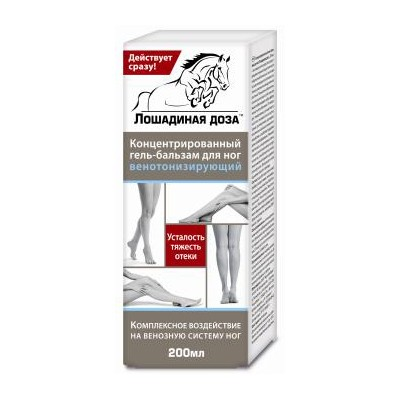 Concentrated Foot Gel-Balm Venotonic, 6.76 oz/ 200 ml