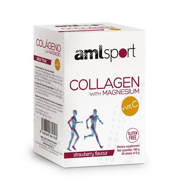 COLLAGEN WITH MAGNESIUM AND VITAMIN C, AML SPORT | 20 DAYS / 20 STICKS