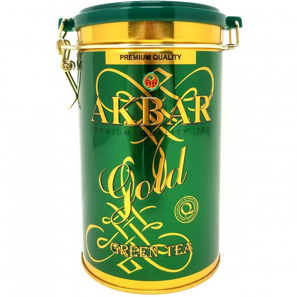 Akbar Premium Quality Gold Collection Green Tea, Tin Box 9.6 oz / 275 g