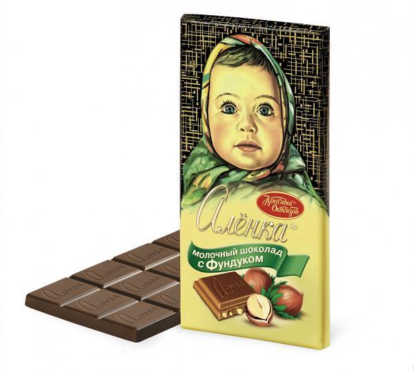 Alenka Milk Chocolate with Hazelnut, 3.52 oz/ 100 g