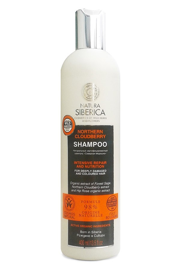 Natura Siberica Repairing Shampoo with Northern Cloudberry for Deeply Damaged and Coloured Hair, 13.52 oz/ 400ml