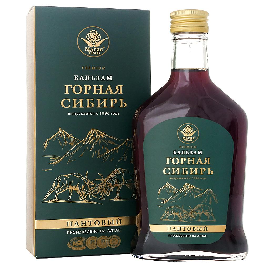 Altai Herbal Mountain Siberian Balm Deer Antler, Magiya Trav, 8.45 oz / 250 ml