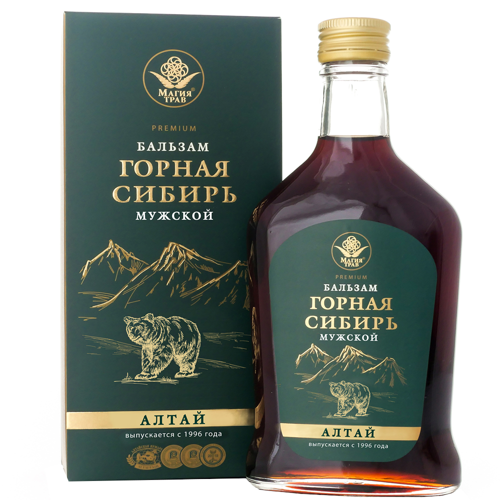 Herbal Mountain Siberian Balm for MEN, Magiya Trav, 8.45 oz / 50 ml