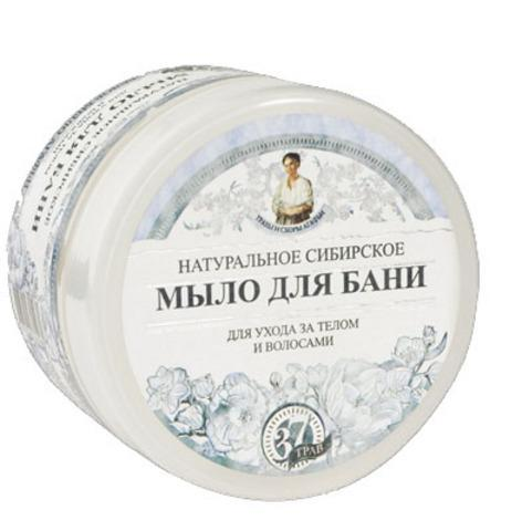 Natural Siberian Bath White Soap for Body and Hair, 16.9 oz/ 500 Ml