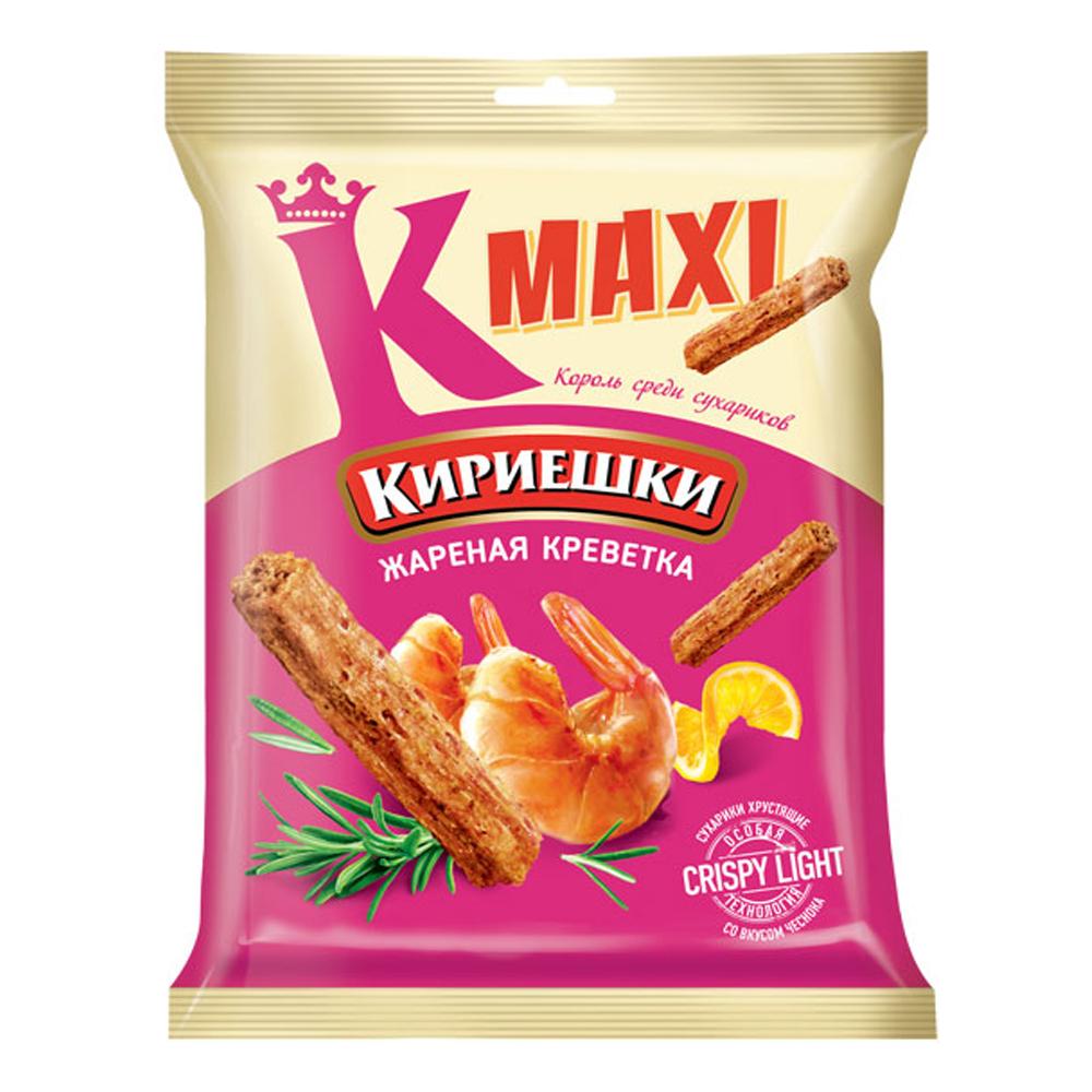 Croutons Maxi Fried Shrimp Flavor, Kirieshki, 0.13 lb/ 60 gr