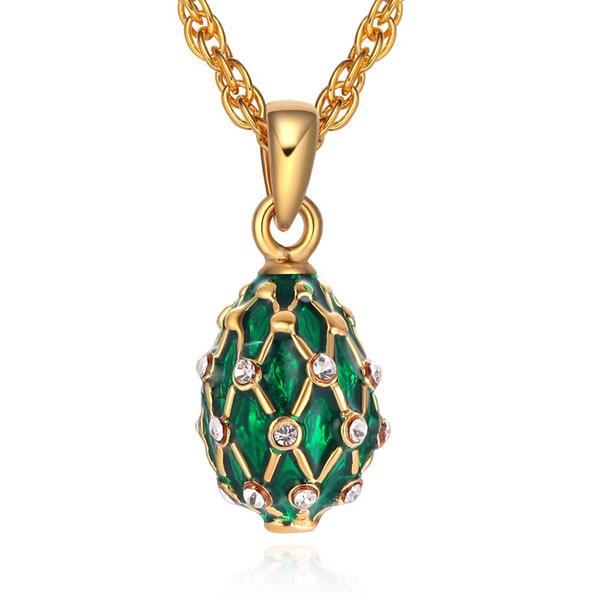 "Locket Pendant Drop with Mesh Pattern (green), 1"" (1214-09-03)"