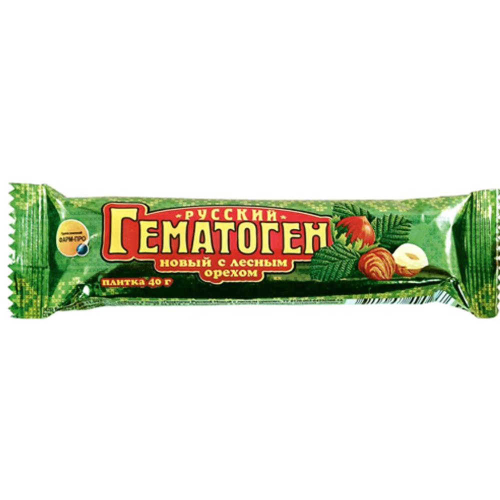 New Hematogen with Hazelnut, Russian Hematogen, 40 g/ 0.088 lb