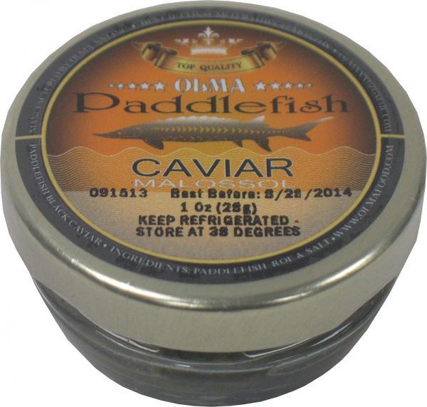 Paddle Fish Black Caviar Glass Jar, 0.9 oz / 28 g