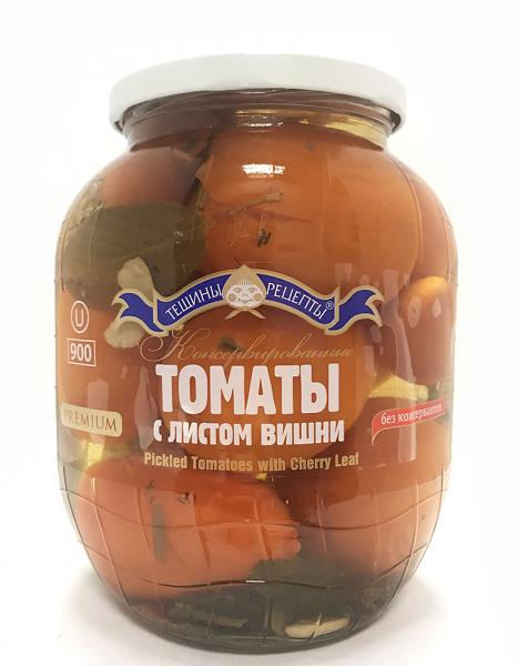 Pickled Tomatoes w/ Cherry Leaf, 900 g