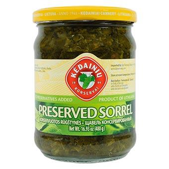 Preserved Sorrel, 16.93 oz / 480 g