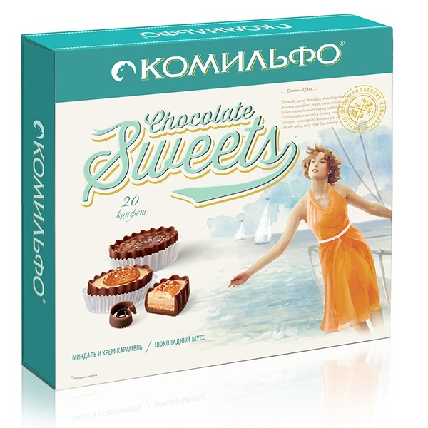 Chocolates and KOMILFO® Almond Creme Caramel, Chocolate mousse 232 g