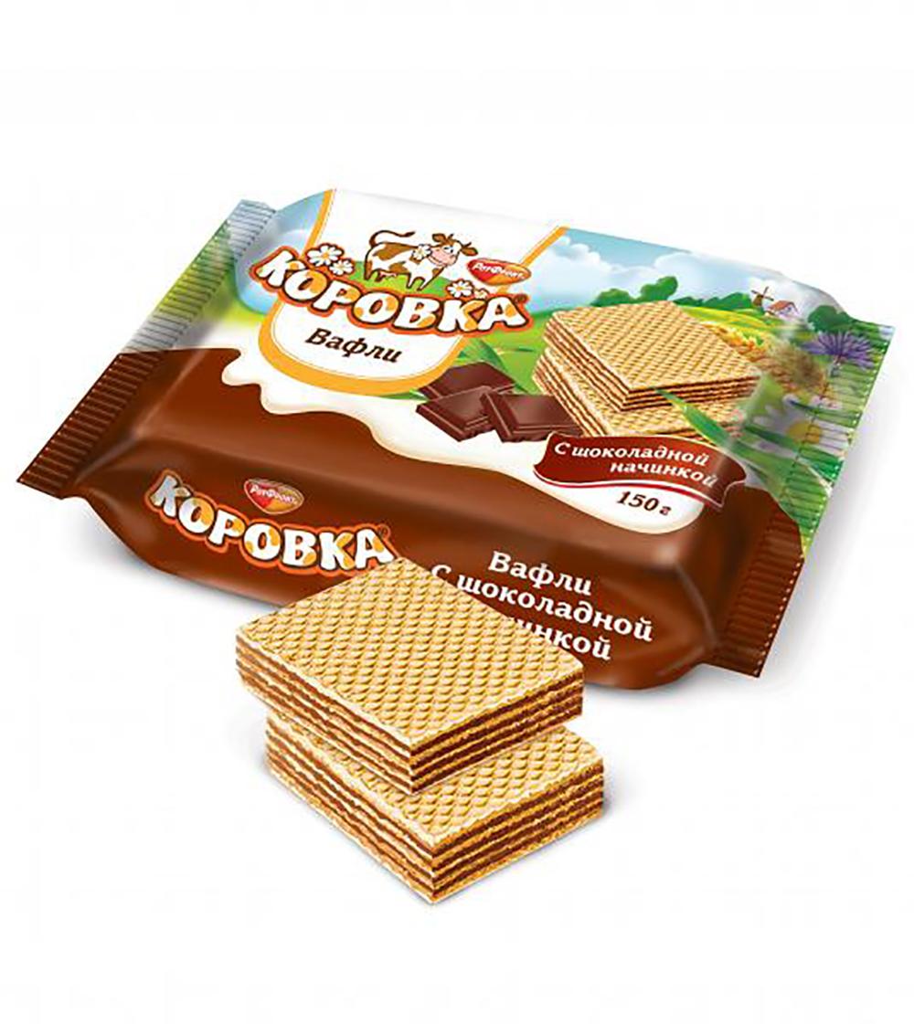 Korovka Wafers Chocolate, 5.29 oz / 150 g