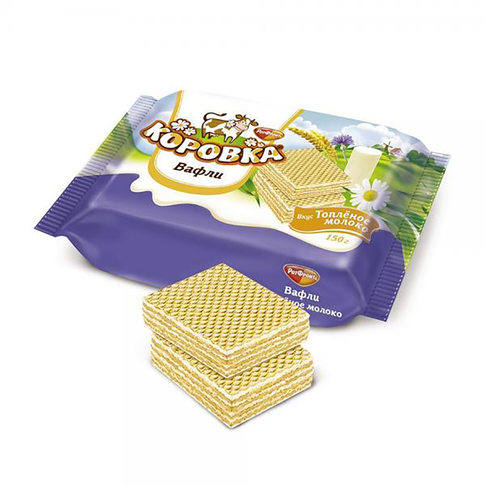Korovka Wafers with Baked Milk, 5.29 oz / 150 g