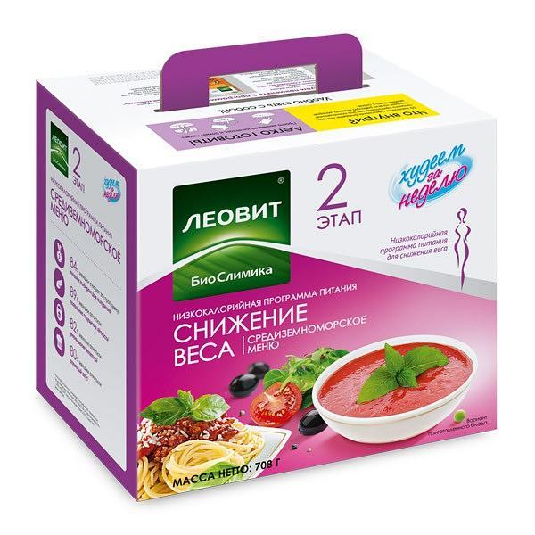 """""""Lose Weight in a Week"""" Nutrition System Mediterranean Menu"""
