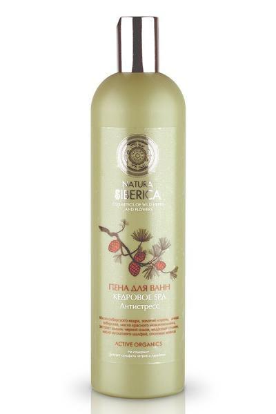 "ACTIVE ORGANICS Bubble Bath Cedar SPA ""Anti-Stress"" with Cedar Oil, Golden Root, Wild Herbs, and Flowers, 20.28 oz/ 600 Ml"