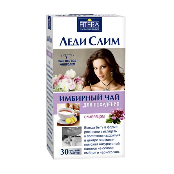Lady Slim Ginger Tea with Thyme, 30 tea bags