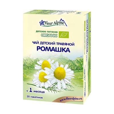 "Organic Tea for Kids 1+ Month Camomile ""Romashka"" 20g Fleur Alpine"