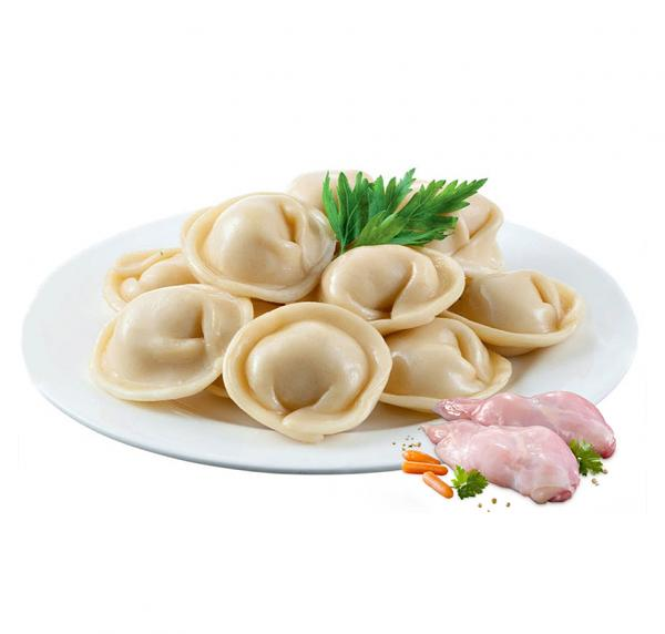 Pelmeni with Chicken (Handmade/ Frozen), 16 oz /452 g (Russian Style Ravioli)