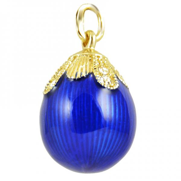 "Russian Style Pendant ""Drop"" (blue), 1217-12-02"