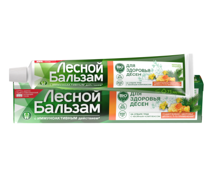 Forest Balm Special Care 50+ Toothpaste with Extracts of Propolis and St. John's Wort, 2.54 oz / 75 ml