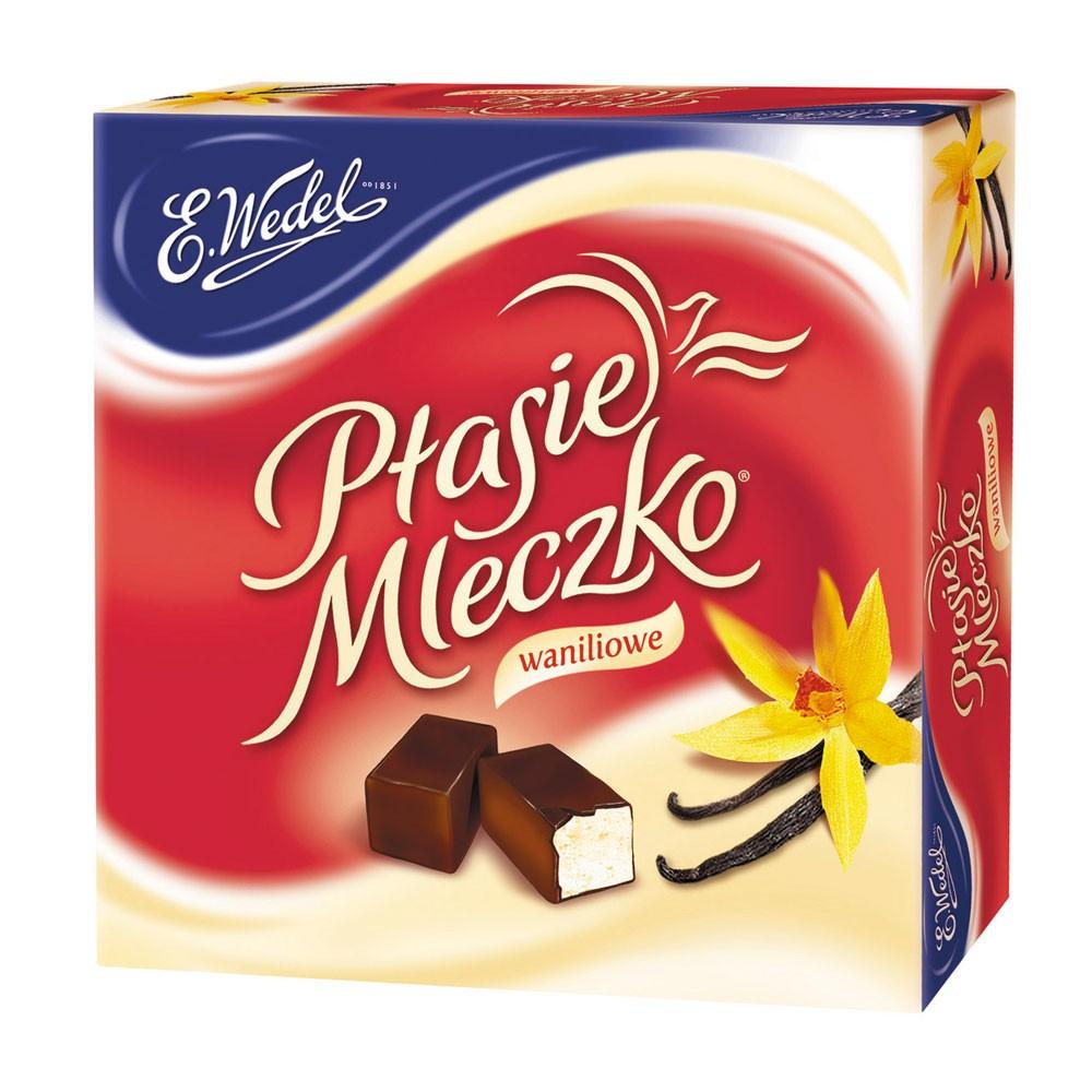 Ptasie Mleczko WEDEL Candy Bird's Milk Vanilla Flavor, 13.4oz / 380g