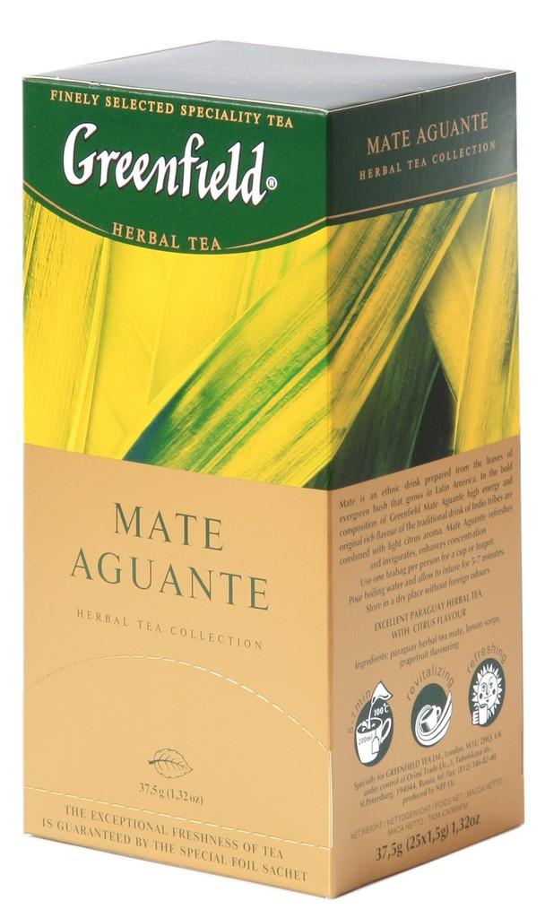 "Greenfield Herbal Tea ""Mate Aguante"", 25 Tea Bags"