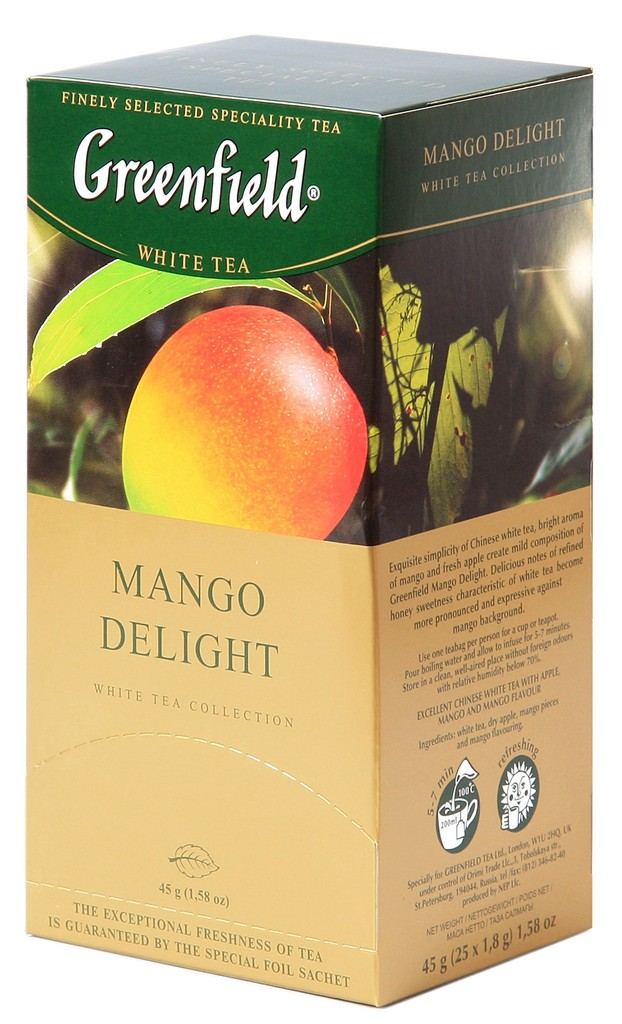 "Greenfield White Tea ""Mango Delight"", 25 Tea Bags"