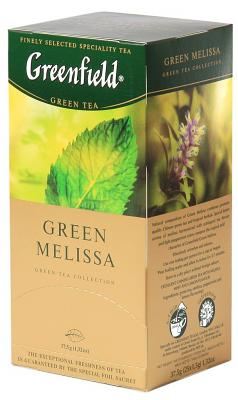 "Greenfield Green Tea ""Green Melissa"", 25 Tea Bags"