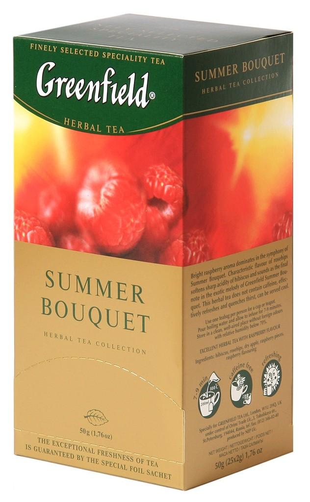 """Greenfield Herbal Tea """"Summer Bouquet"""", 25 Tea Bags"""