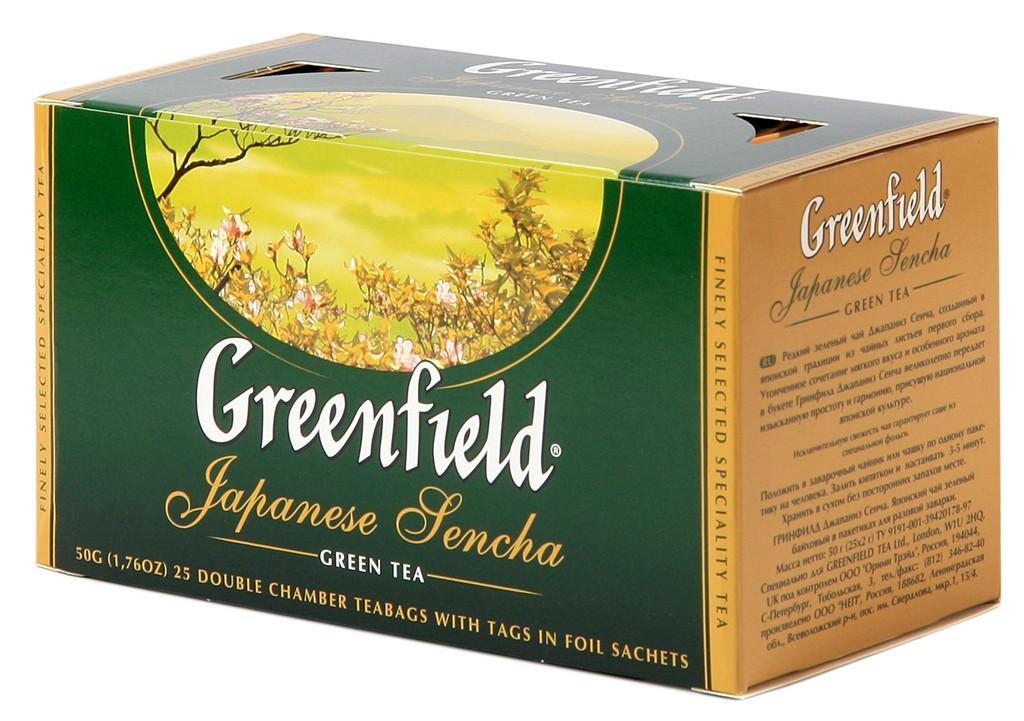 Greenfield Japanese Sencha Green Tea, 25 tea bags