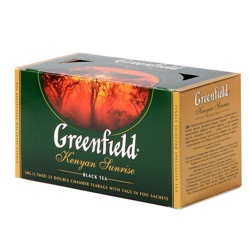 "Greenfield Black Tea ""Kenyan Sunrise"", 25 Tea Bags"