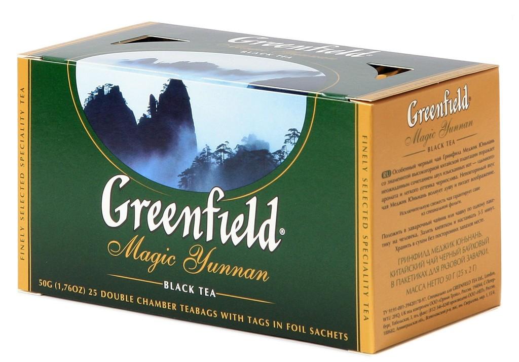 Greenfield Magic Yunnan Black Tea, 25 tea bags