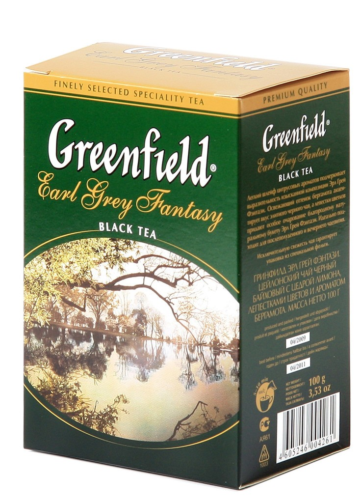 "Greenfield Black Tea ""Earl Grey Fantasy"", 25 Tea Bags"